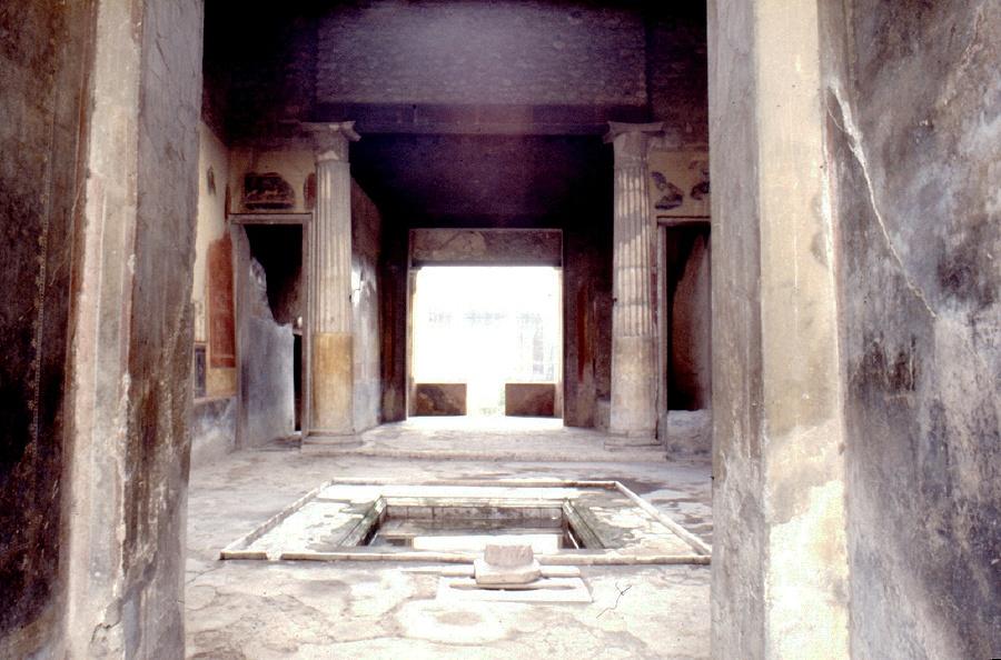 Het atrium van het huis van menander - Huis van de cabriolet ...