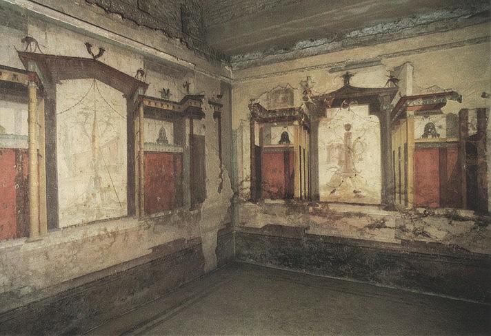 De paleizen op de palatijn for De ingang van het huis
