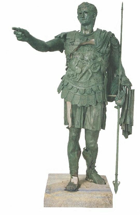 Het bronzen beeld van germanicus - Beeld het meisje van ...